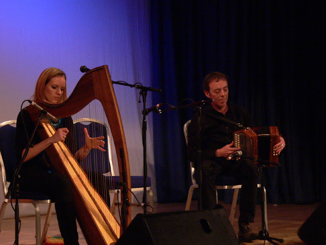 Florianne Blancke and Dermot Byrne at The Piping Centre