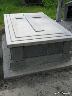 grób Kaweckich dziś...