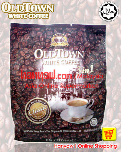Old Town White Coffee 3 in 1 Classic A perfect smooth blend of the original white coffee. Rich, creamy and aromatic, it has a heightened lingering mouth ...