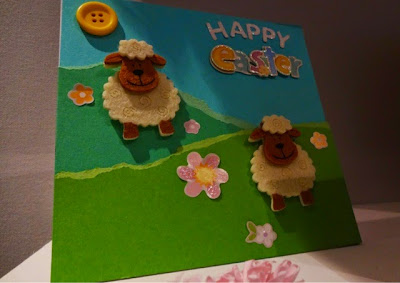 Hobbycraft - Sheep Easter Card
