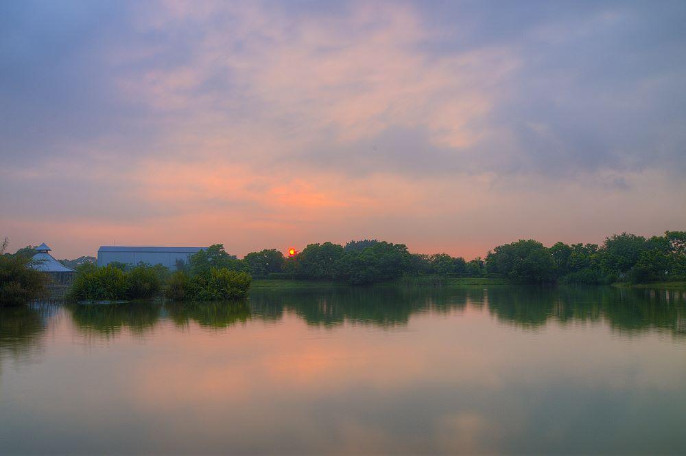 八德埤塘池畔.夕景.一張流!!!