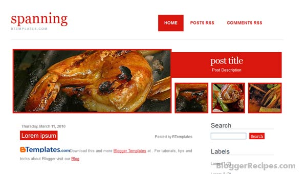 Spanning Blogger Templates