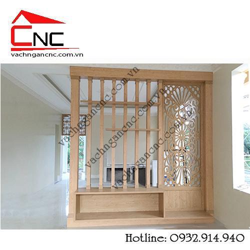 Vách ngăn cnc và lam gỗ cầu thang tại Nguyễn Văn Tạo – Nhà Bè
