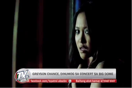 04/24/12 - TV Patrol (Featured)/ABS-CBN News - Greyson Chance Proud of Duet with Charice GCproudofCduet