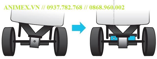 Xe nâng điện Nhật Bản 1.5 tấn