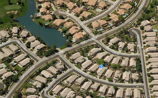 Aerial view of Houses for sale in Chandler AZ