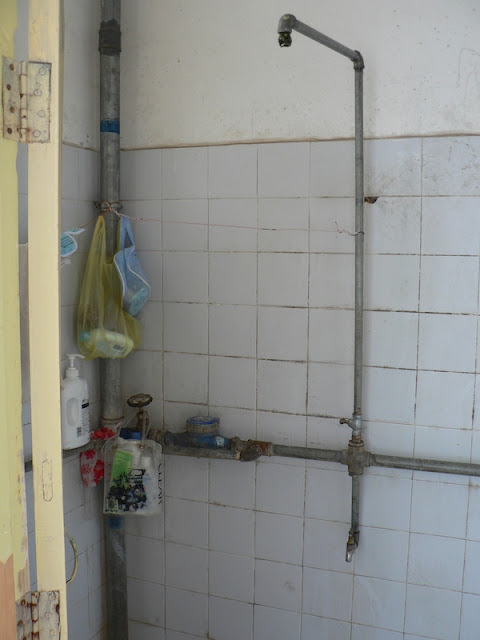 shower in dorm room at the Guangxi Normal University for Nationalities in Longzhou, China