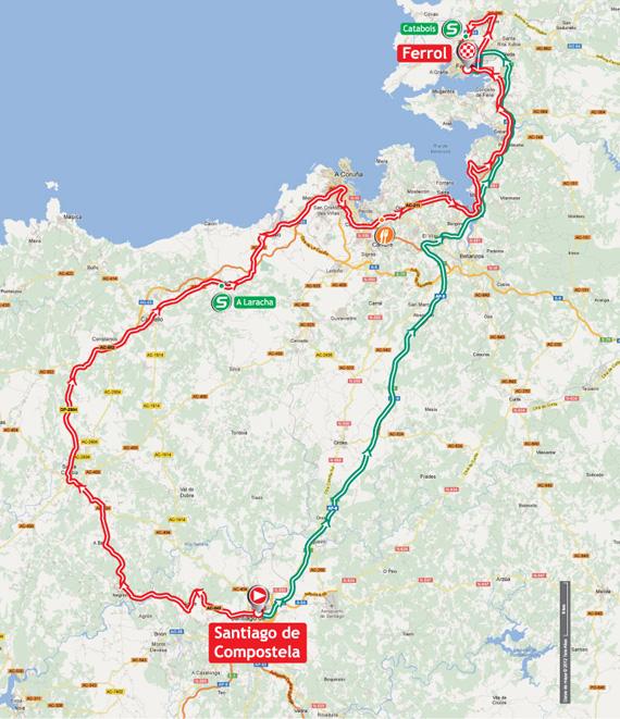 La Vuelta 2012. Etapa 13. Santiago de Compostela – Ferrol. @ Unipublic