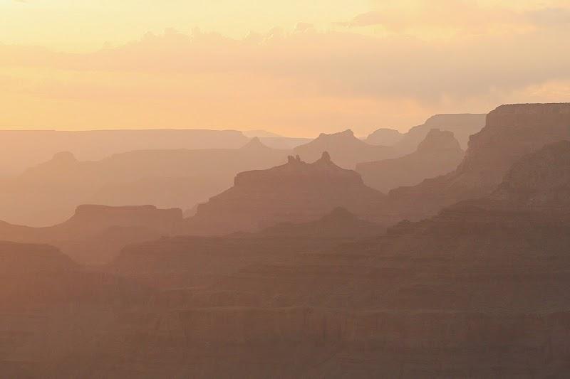 Закат на Гранд Каньоне