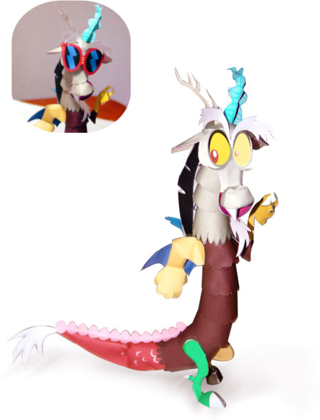 My Little Pony Discord Papercraft