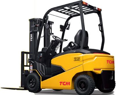 Xe nâng điện TCM 2.5 tấn cao 4.3m 4.5m 4.7m