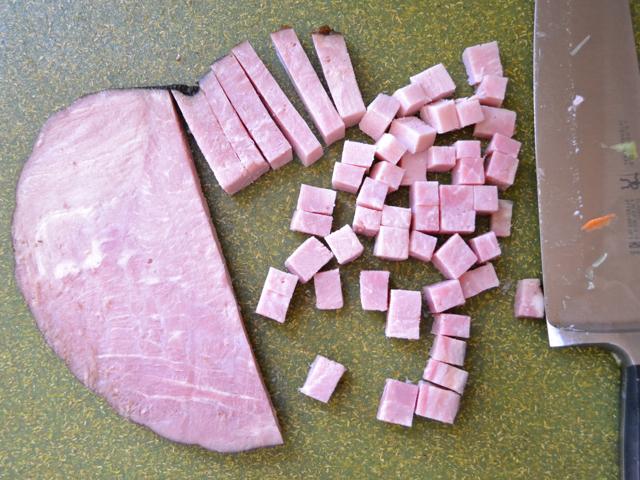 cut ham