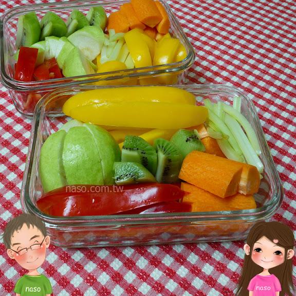 naso嫂減肥篇-用Glasslock強化玻璃保鮮盒裝彩色食物