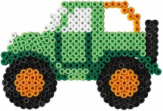 Đồ chơi xếp hạt nhựa midi Hama Large Vehicles giúp sáng tạo rất nhiều mẫu xe đẹp mắt