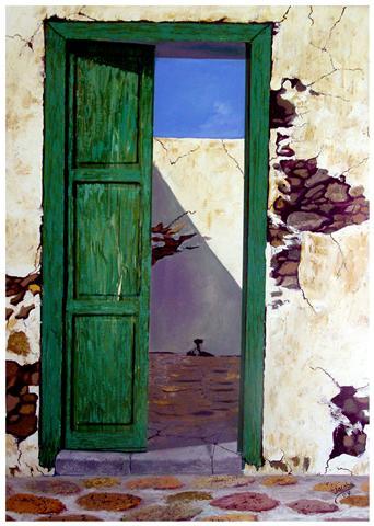 Im genes arte pinturas puertas abiertas y viejas al oleo for Imagenes de puertas viejas