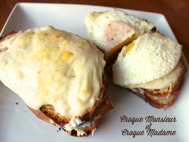 an american girl's recipe for croque madame and croque monsieur french ham sandwich