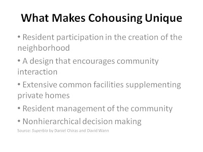 Figure 1.1 The image describes tenets of a cohousing retrofitting strategy.