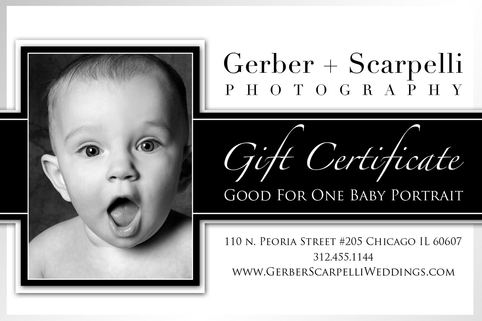 baby session gift certificates