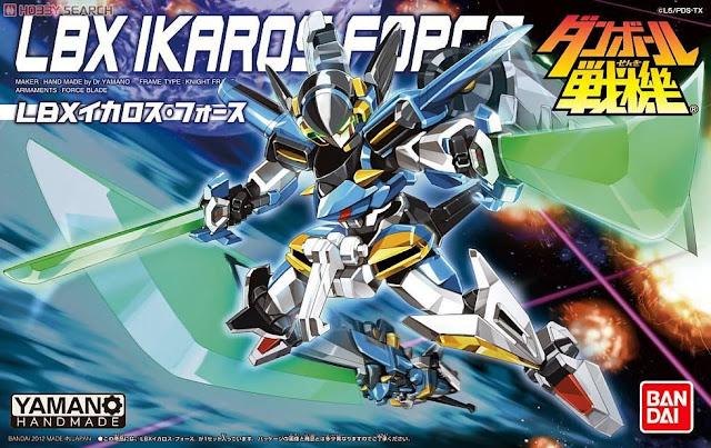 Bao bì sản phẩm đồ chơi Đấu sĩ LBX Ikaros Force