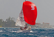J/24 flying off Barbados in Mt Gay Series