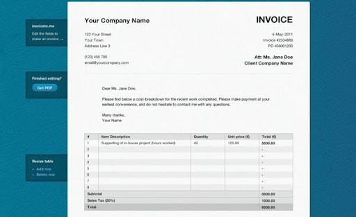 Invoiceto.me - Aplicación web para generar facturas en PDF