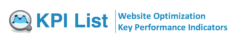 KPI List | Website Optimization Key Performance Indicators