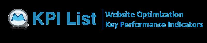 KPI List | Website Optimization Key Performance Indicators