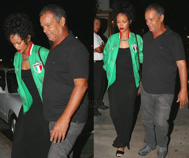 Rihanna in Adidas Mexico Track Jacket