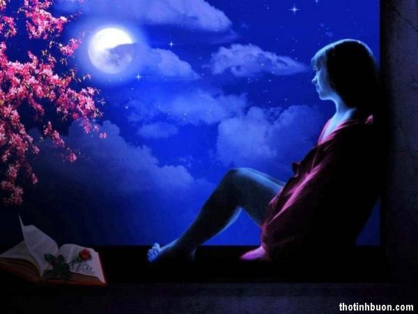 Thơ đêm trăng buồn, thơ hoài niệm mối tình xưa dưới trăng khuya