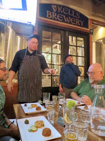 Kells Brew Pub dinner, Travis Star the new head chef, explaining some of the dishes