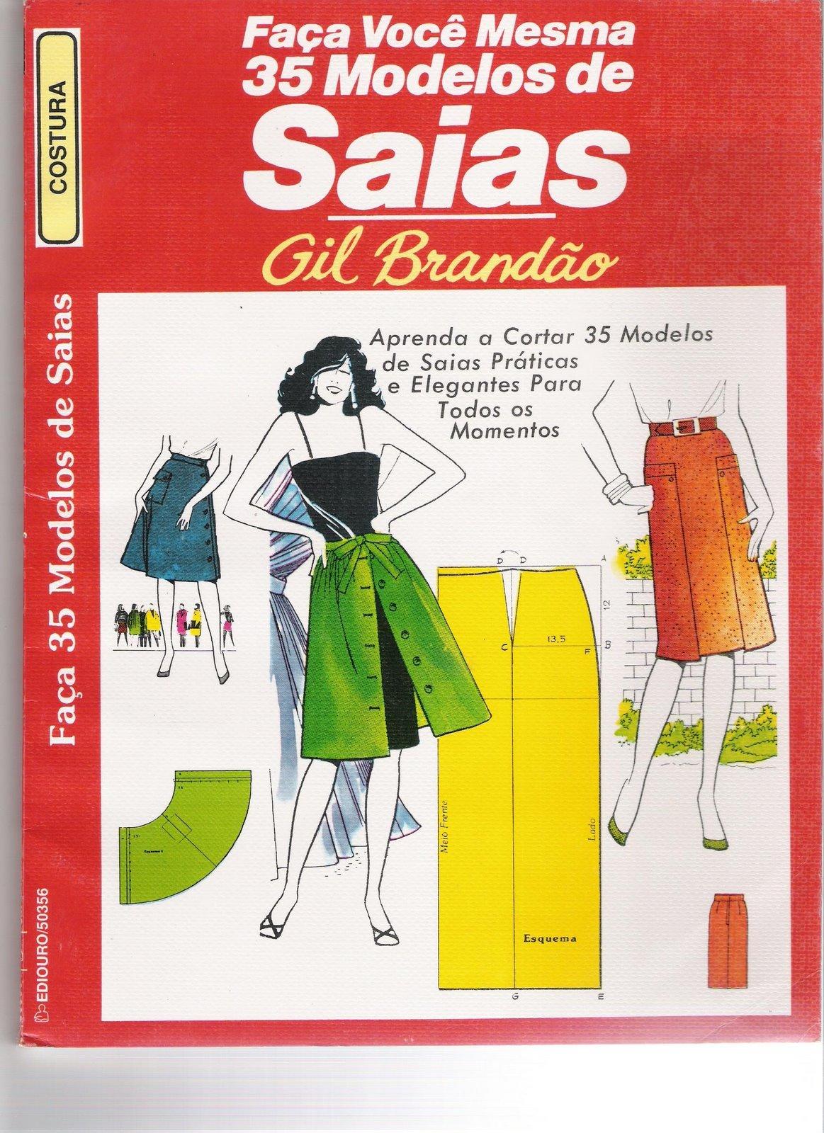 moldes de saias de tecido