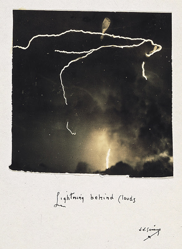 Lightning Behind Clouds by William N. Jennings