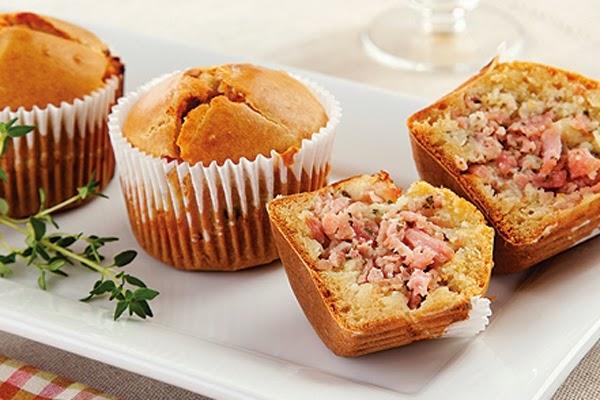 Cupcake Salgado com Recheio de Presunto