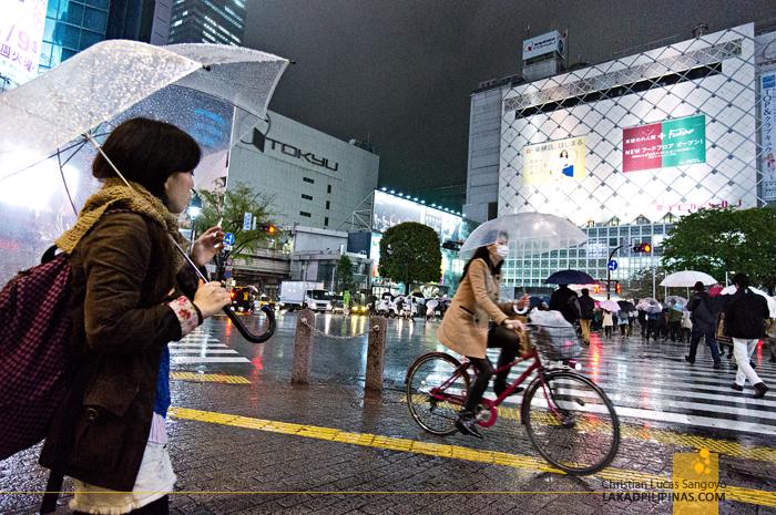 Smokes and Bikes at Tokyo's Shibuya Crossing