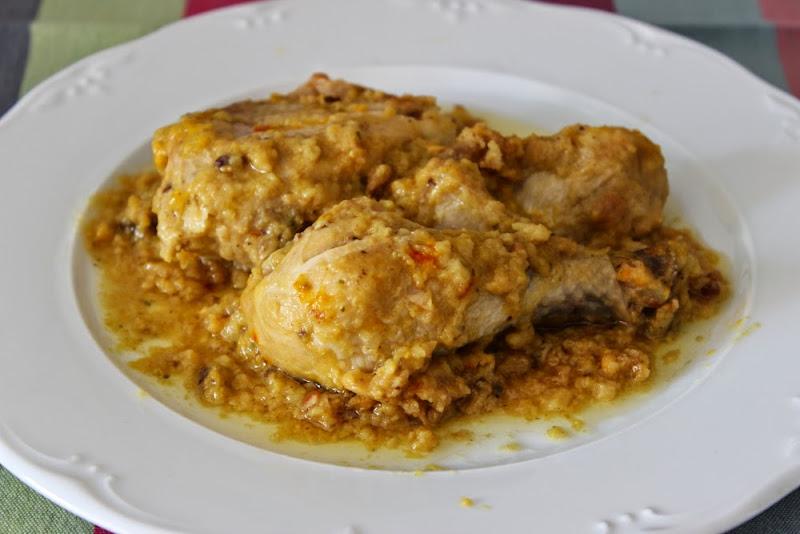 Pollo en pepitoria