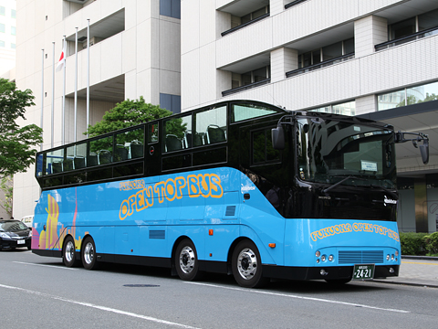 西日本鉄道「福岡オープントップバス」 青塗装