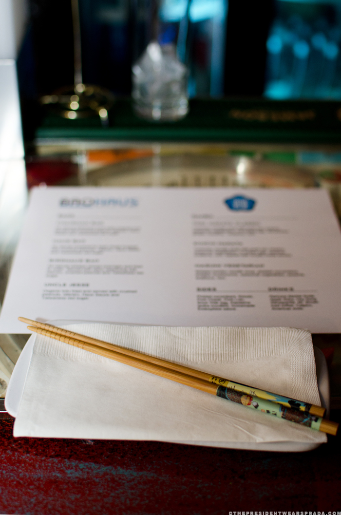 A place setting for the BaoHaus pop-up at Toki Underground