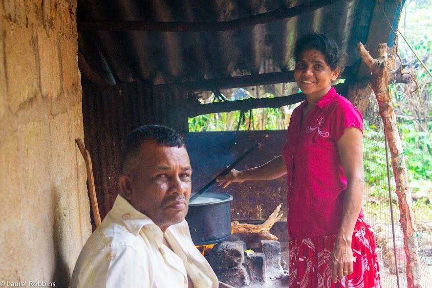 Visiting the home of a local family of Tsunami survivors in Sri Lanka who makes their living by selling buffalo curd.