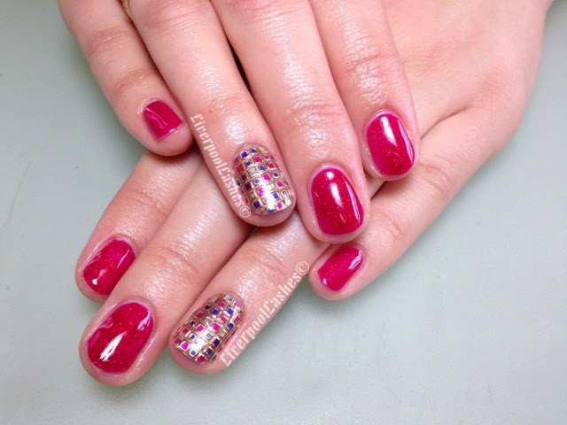 Shellac Hot Pop Pink Ruby Ritz Nail Dashing Diva