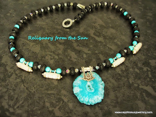 Reliquary from the Sun Necklace by Caprilicious Jewellery