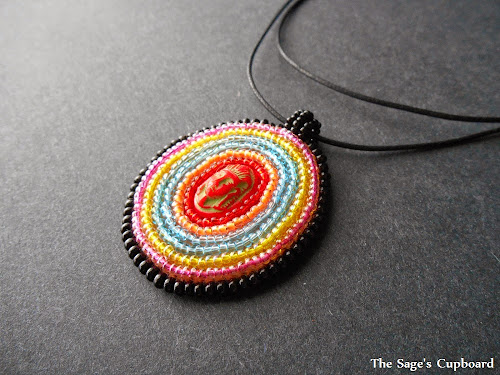 Spring Pharaoh Embroidered Pendant