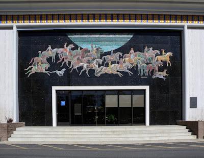mural of horses