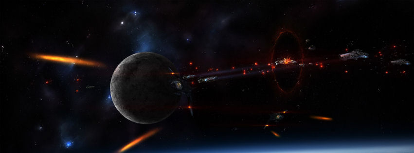 Space war facebook cover