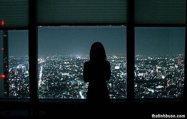 thơ cô gái cô đơn trong đêm