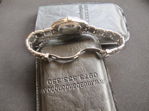 Bán đồng hồ rolex datejust Pearmaster Nữ – Size 34mm – Vàng trắng 18k – vành hạt xoàn zin
