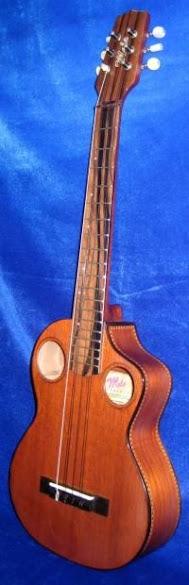 Mele Double puka Hole Acoustic Jumbo Tenor 6 string Lili'u Ukulele