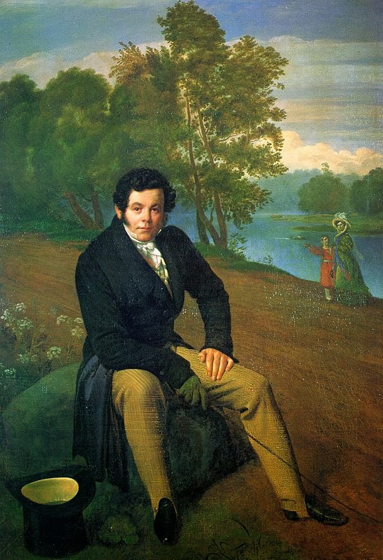 Orest Kiprensky - Portrait of Portrait of K. I. Albrekht, 1827
