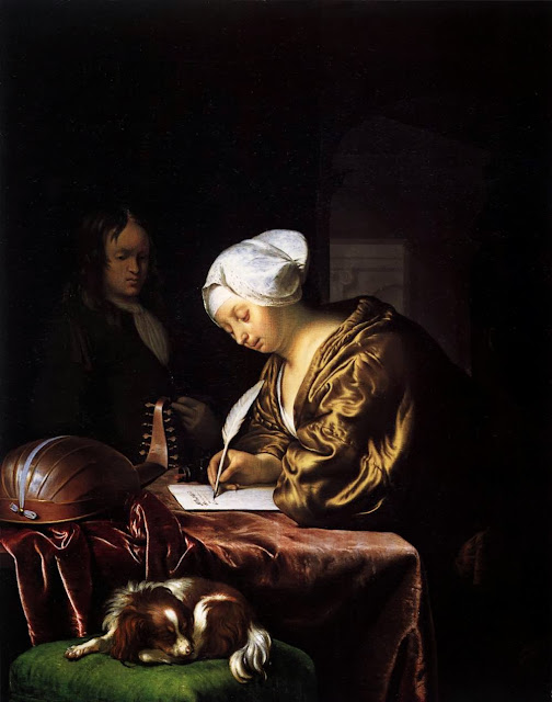 Frans van Mieris the Elder - Woman Writing a Letter