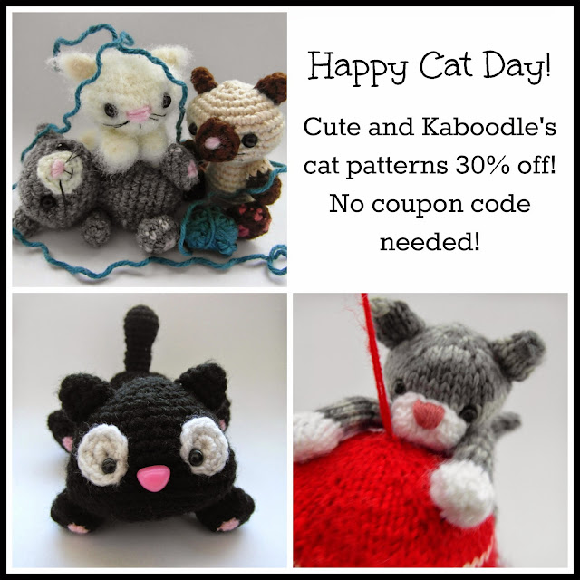 Cat day sale http://www.ravelry.com/designers/justyna-kacprzak