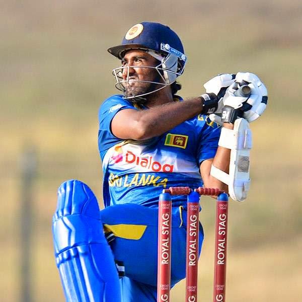 Sri Lankan cricketer Ashan Priyanjan plays a shot during the third and final One Day International (ODI) cricket match between South Africa and Sri Lanka at the Mahinda Rajapaksa International Cricket Stadium in Hambantota on July 12, 2014.